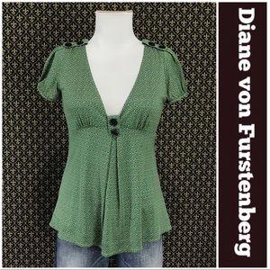 Diane von Furstenberg Printed Jersey Top
